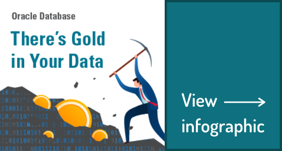 Gold In your Data Infographic CTA
